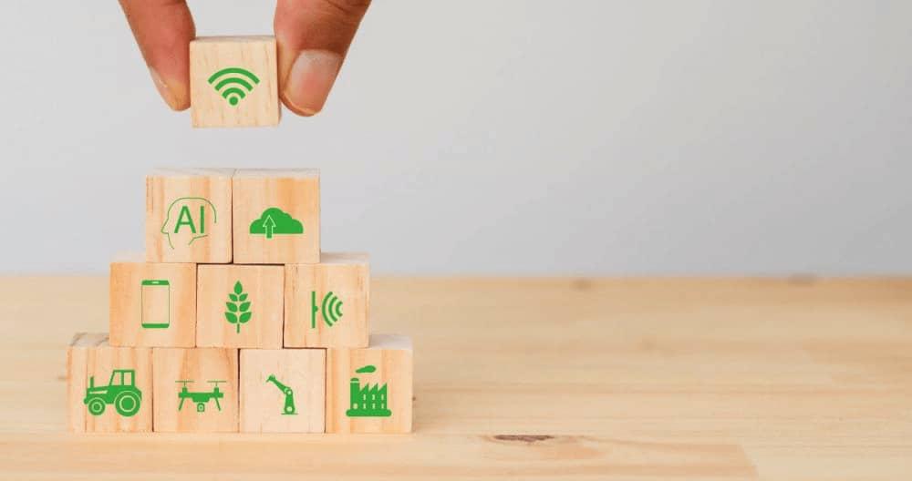 schéma architecture avec morceaux de bois pour tribune infrastructures et territoires