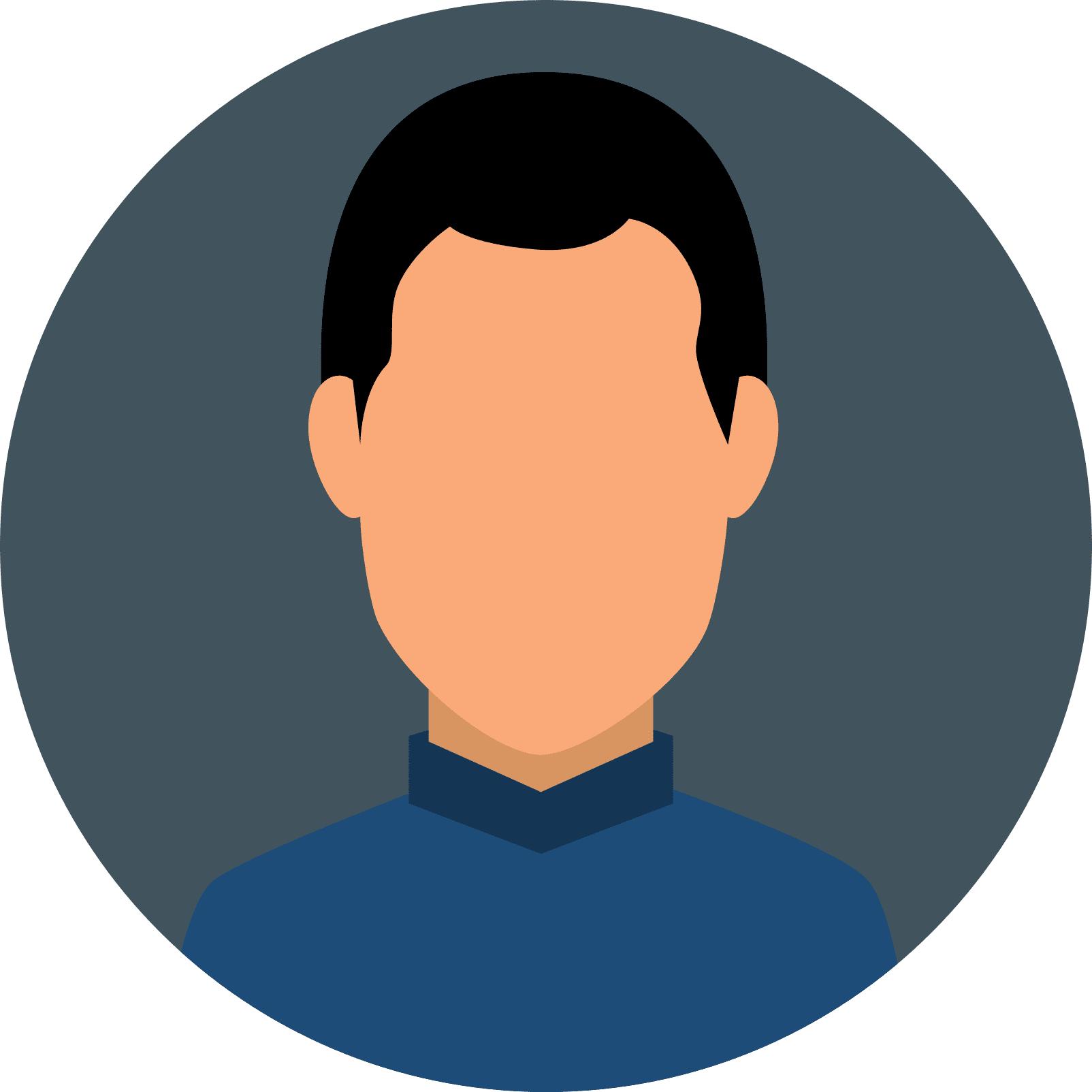pictogramme d'un homme avec des cheveux courts