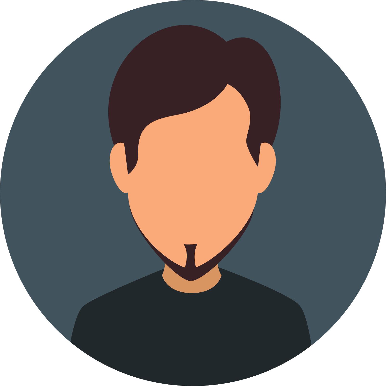 pictogramme d'un homme avec une barbe
